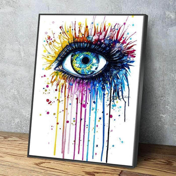 Rainbow Eye Canvas Set