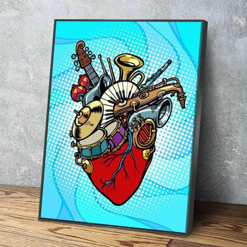 Heart Of Music Canvas Set