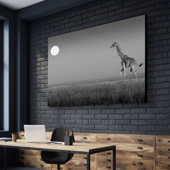 Lone Giraffe Canvas Set