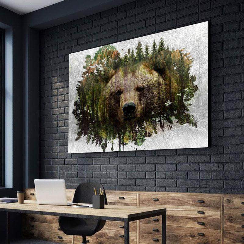 Bear Habitat Canvas Set