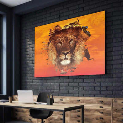 Lion Habitat Canvas Set