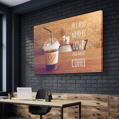 Love and Coffee Canvas Set