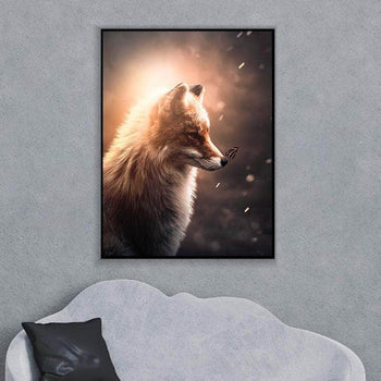 Glowing Fox and Butterfly Canvas Set