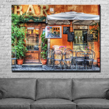 Vintage Bar Canvas Set