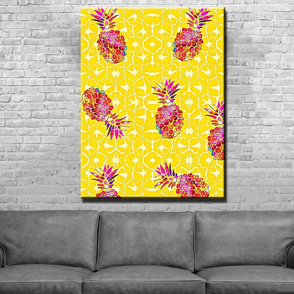 Pineapple Abstract Canvas Set - Canvas Freaks