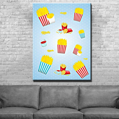 Fries Canvas Set