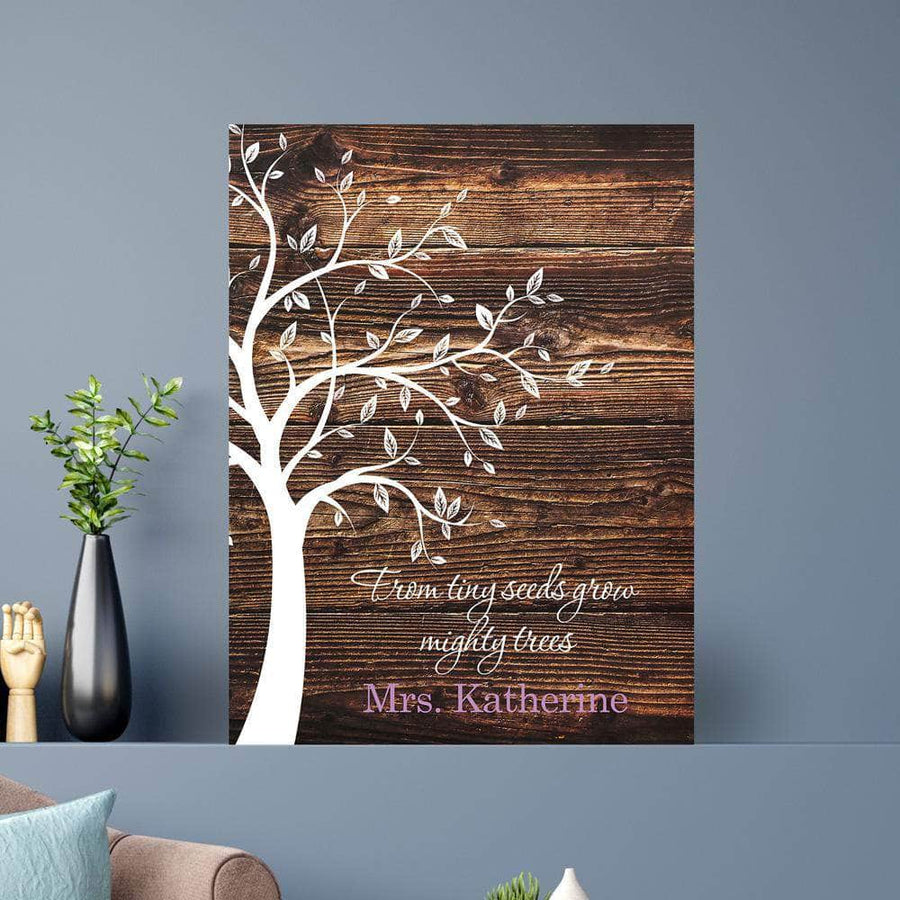 From Tiny Seeds Grow Mighty Trees Custom Canvas Set
