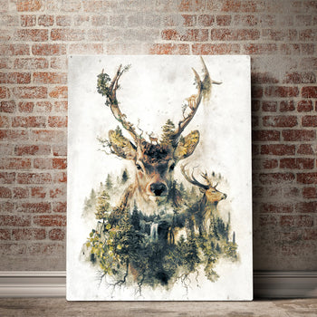 Surreal Deer Canvas Set