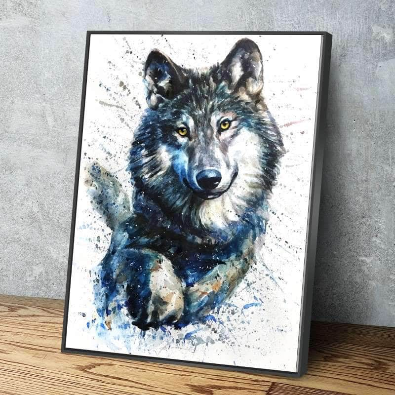 Siberian Wolf Canvas Set