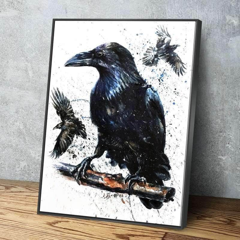 Black Raven Canvas Set