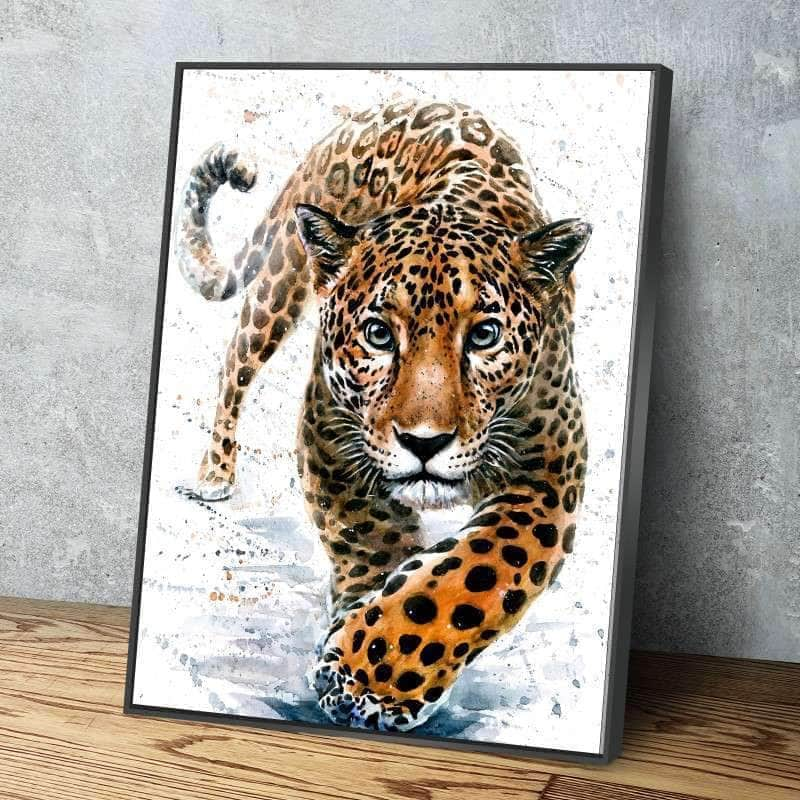 Watercolor Jaguar Canvas Set