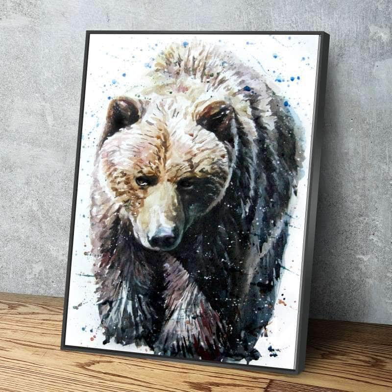 Big Brown Bear Canvas Set