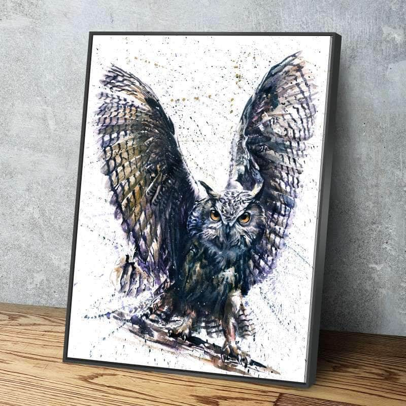 Great Gray Owl Canvas Set