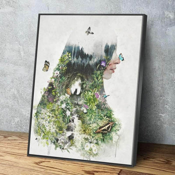 A Cat in the Garden Canvas Set