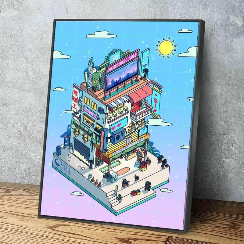 Corner Store Day Canvas Set