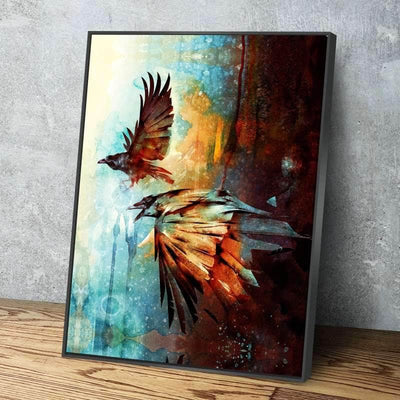 Crows in Flight Canvas Set