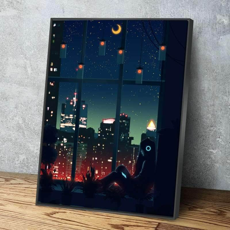A Quiet Night Canvas Set