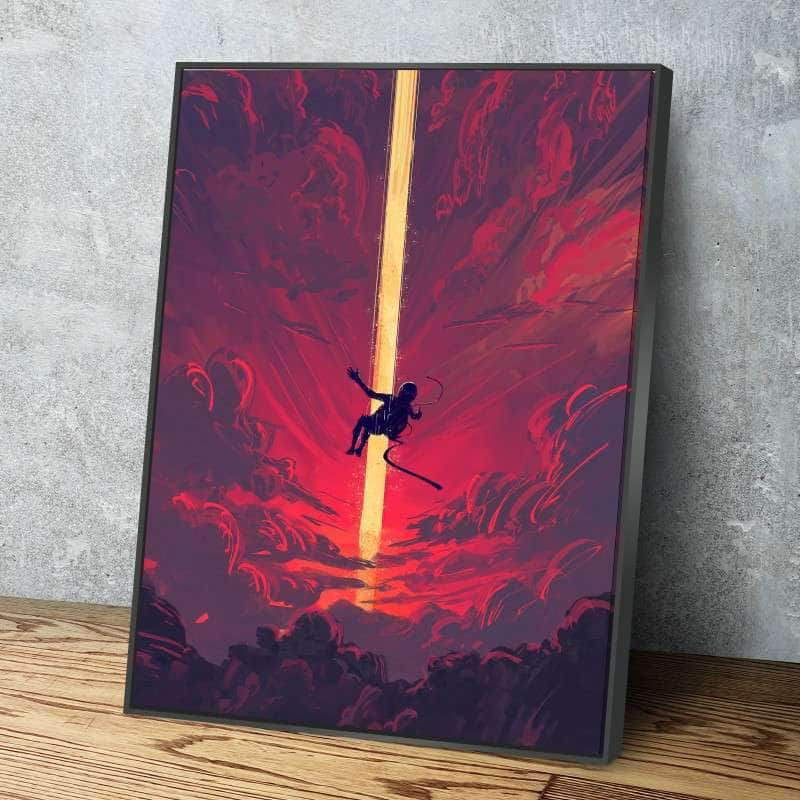 Falling Astronaut Canvas Set