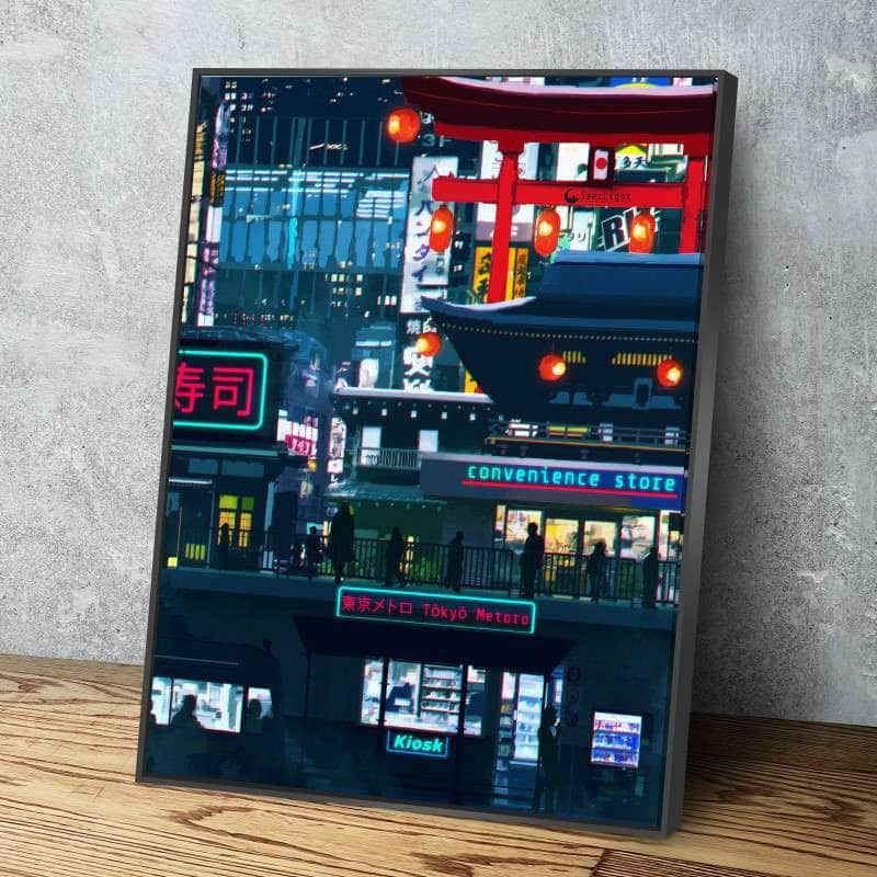 Cyberpunk Downtown Canvas Set