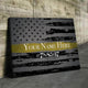 Custom Personalized Thin Yellow Line Canvas Set