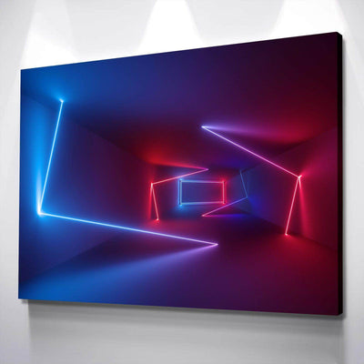 Neon Hallway Canvas Set