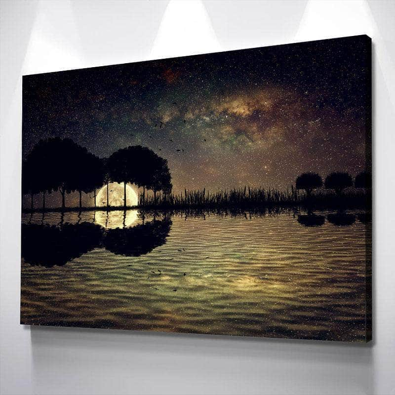 Scenic Dark Guitar Sunset Canvas Set