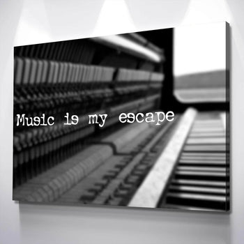 Music Escape Quote Canvas Set