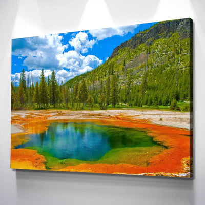 Yellowstone Spring Canvas Set