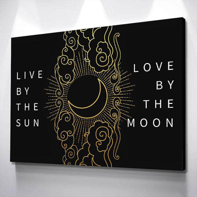 Live By The Sun Love By The Moon Canvas Set