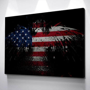 Patriotic Bald Eagle Canvas Set