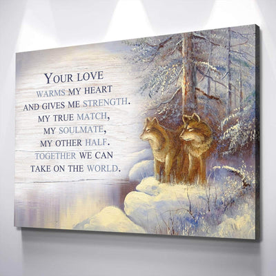 Wolf Love Canvas Set