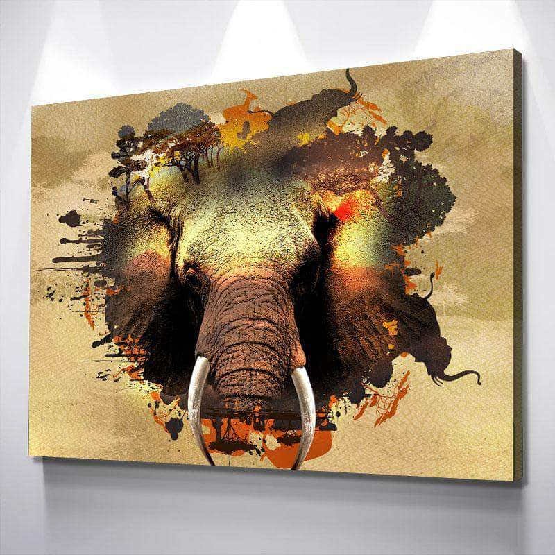 Elephant Habitat Canvas Set