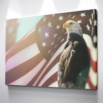 Proud Patriot Eagle Canvas Set
