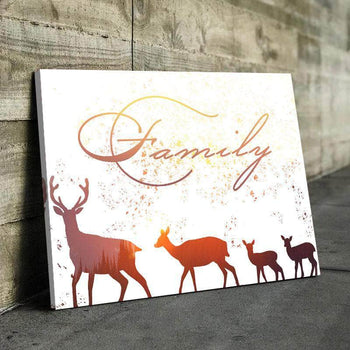 Sunset Deer Family Canvas Set