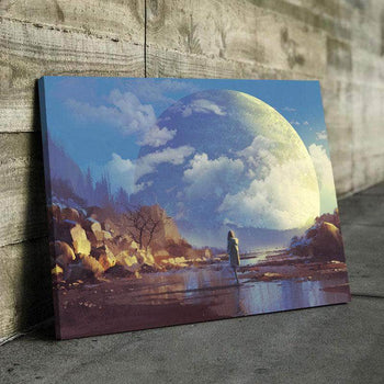 Misplaced Moon Canvas Set