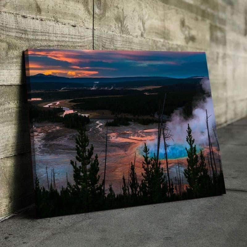 Yellowstone Sunrise Canvas Set