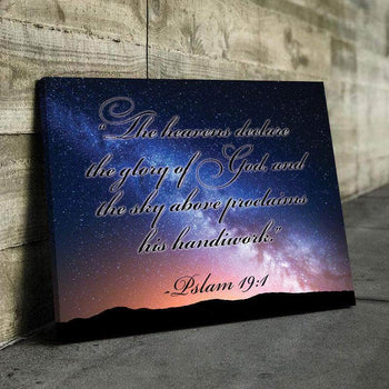 Psalms 19:1 Canvas Set