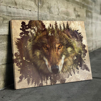 Wolf Habitat Canvas Set
