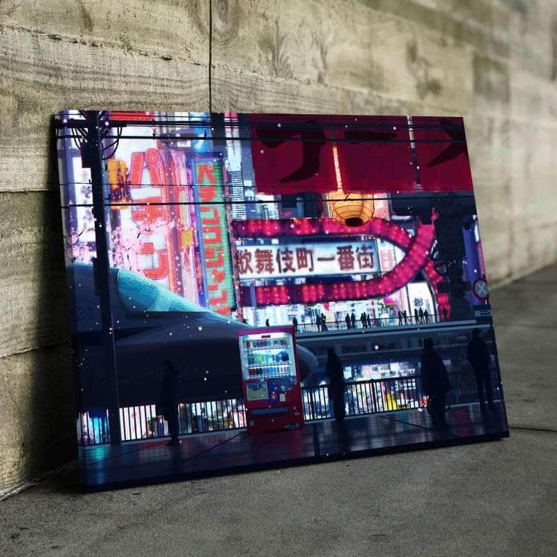 Cyberpunk Streets Canvas Set