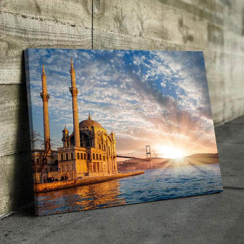 Ortakoy Mosque And Bosphorus Bridge Canvas Set