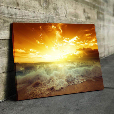 Ocean Eclipse Canvas Set