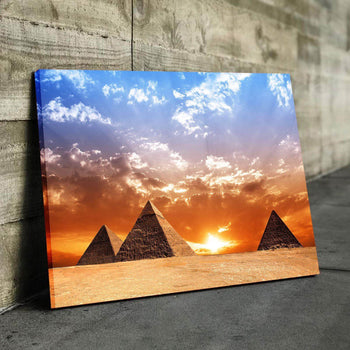 Panorama Pyramids Canvas Set