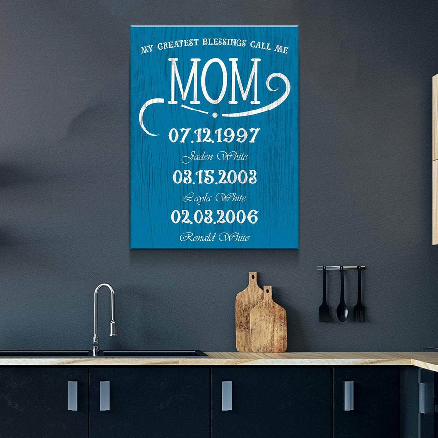 My Greatest Blessings Call Me MOM Custom Canvas Set