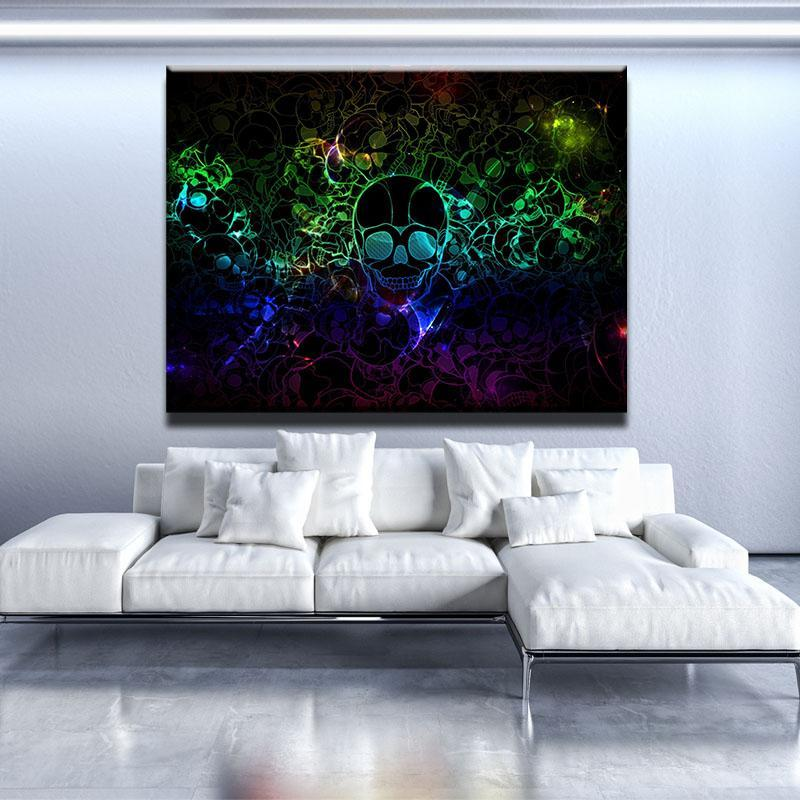 Trippy Skull Canvas Set