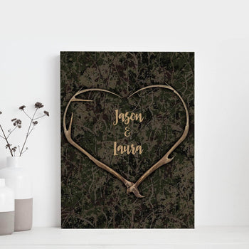 Custom Personalized Bucking Love 2 Canvas Set