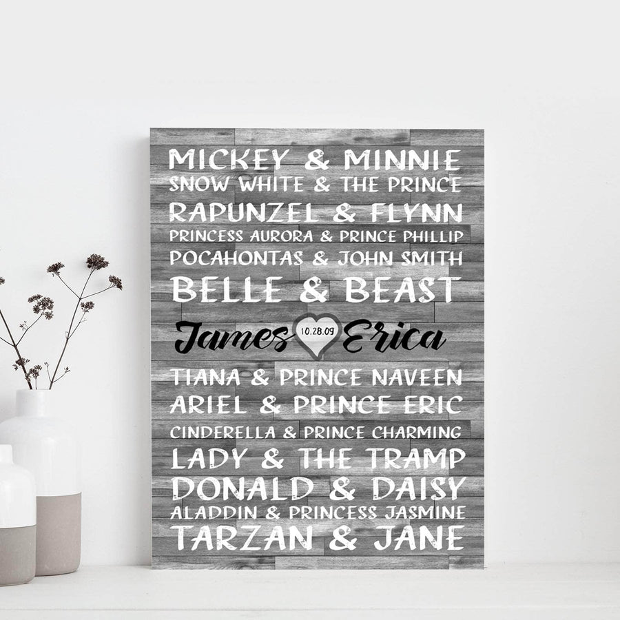 Fairytale Love Custom Canvas Set