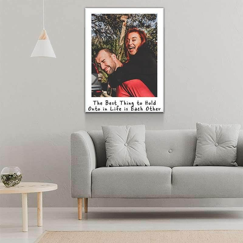 Custom Personalized Couple Polaroid Canvas Set