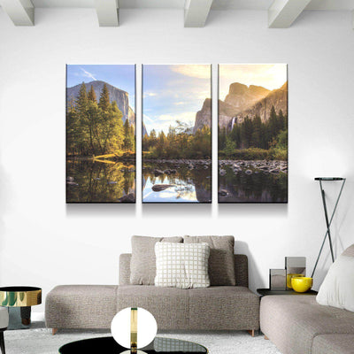 Yosemite River Bank Canvas Set