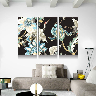 Crane Blossom Canvas Set