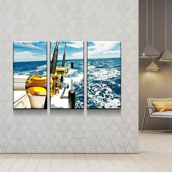 Fishing Time Canvas Set